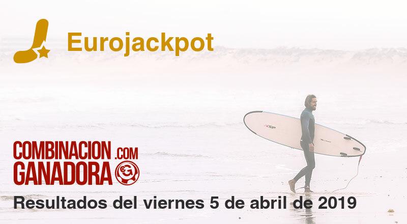 Eurojackpot del viernes 5 de abril de 2019