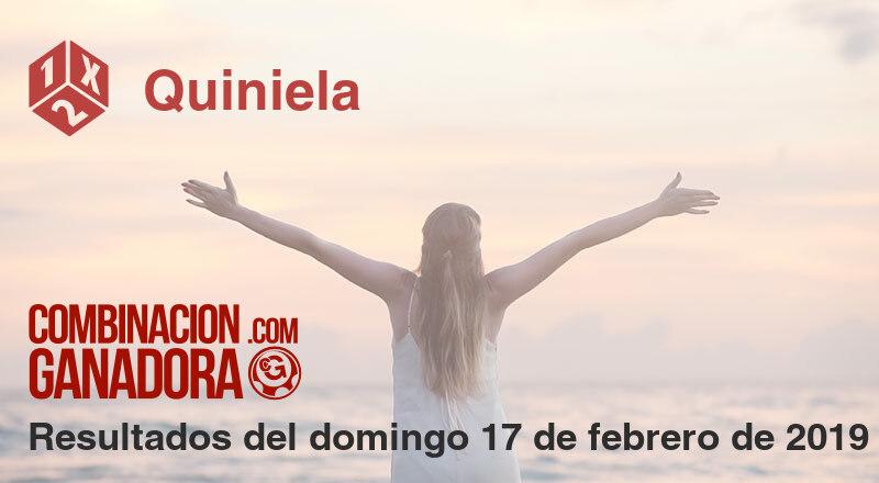 Quiniela del domingo 17 de febrero de 2019