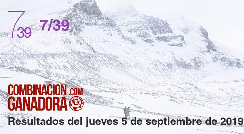7/39 del jueves 5 de septiembre de 2019