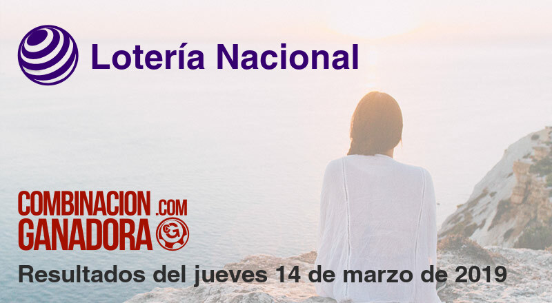 Lotería Nacional del jueves 14 de marzo de 2019
