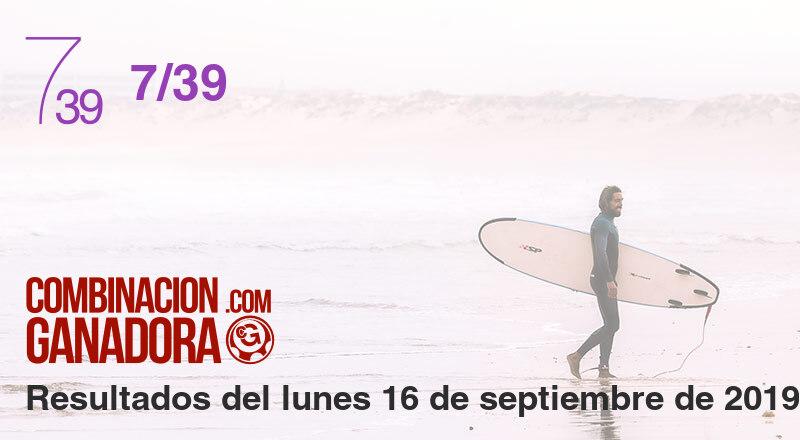 7/39 del lunes 16 de septiembre de 2019