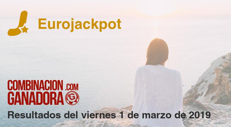 Eurojackpot del viernes 1 de marzo de 2019