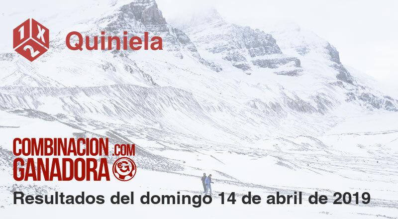 Quiniela del domingo 14 de abril de 2019