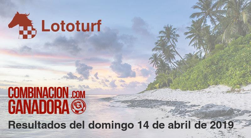 Lototurf del domingo 14 de abril de 2019
