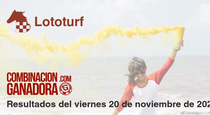 Lototurf del viernes 20 de noviembre de 2020