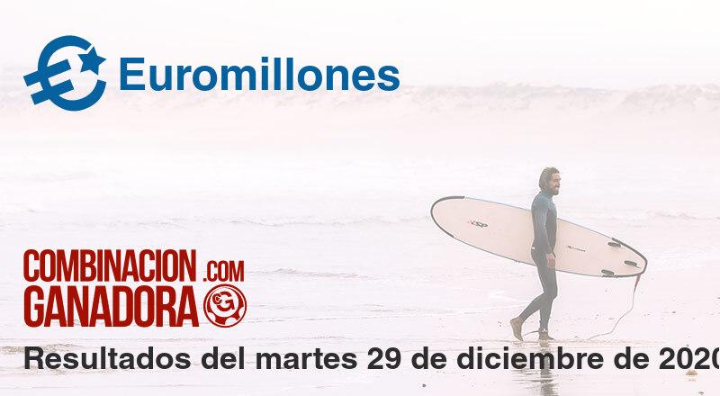 Euromillones del martes 29 de diciembre de 2020