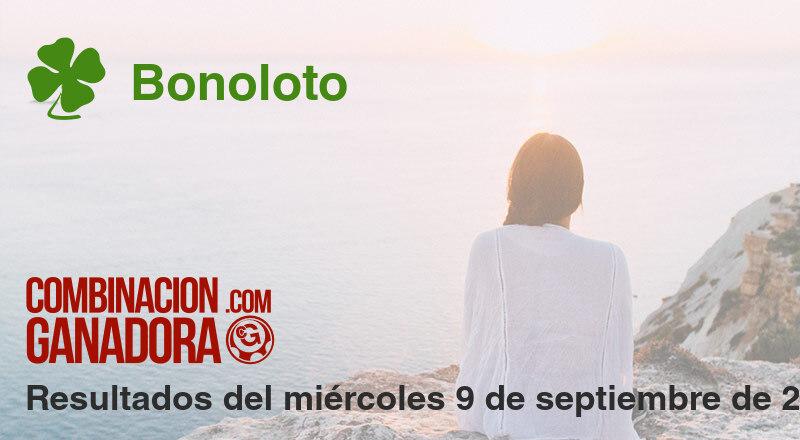 Bonoloto del miércoles 9 de septiembre de 2020