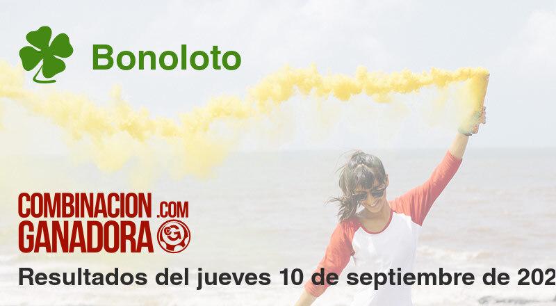 Bonoloto del jueves 10 de septiembre de 2020
