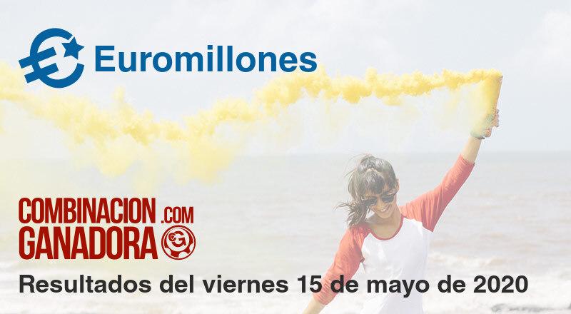 Euromillones del viernes 15 de mayo de 2020