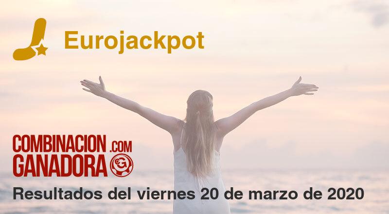 Eurojackpot del viernes 20 de marzo de 2020