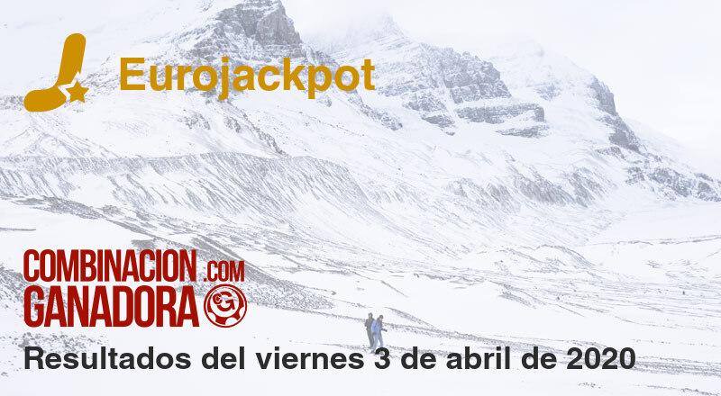 Eurojackpot del viernes 3 de abril de 2020