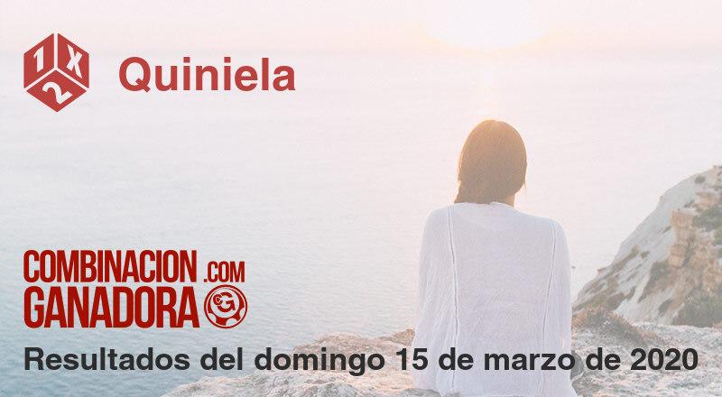 Quiniela del domingo 15 de marzo de 2020