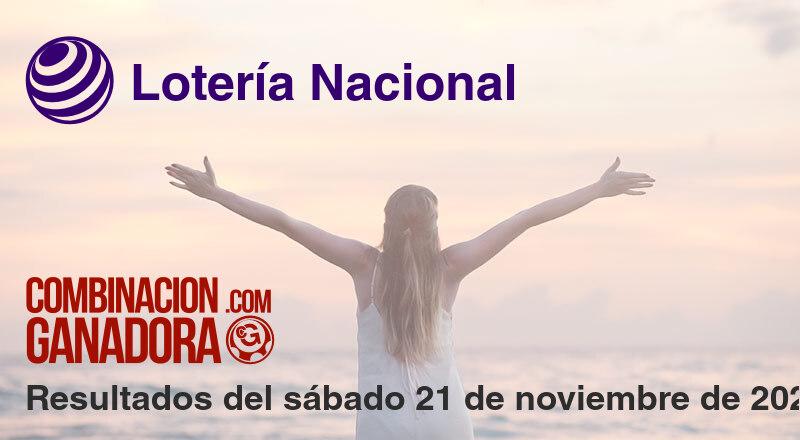 Lotería Nacional del sábado 21 de noviembre de 2020
