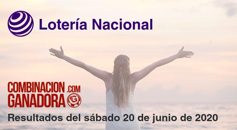Lotería Nacional del sábado 20 de junio de 2020
