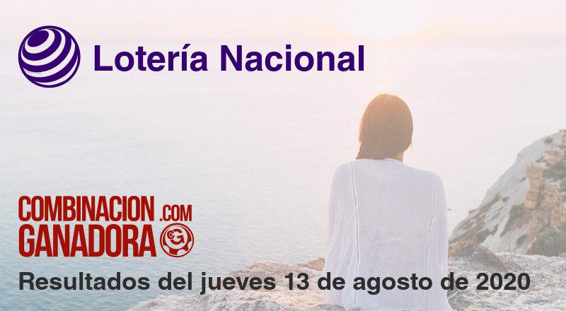 Lotería Nacional del jueves 13 de agosto de 2020