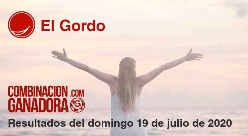 El Gordo del domingo 19 de julio de 2020