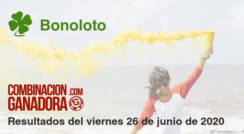 Bonoloto del viernes 26 de junio de 2020