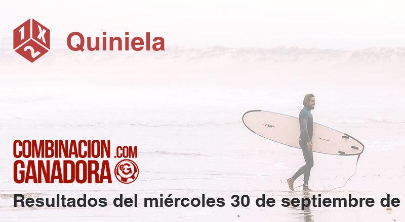 Quiniela del miércoles 30 de septiembre de 2020