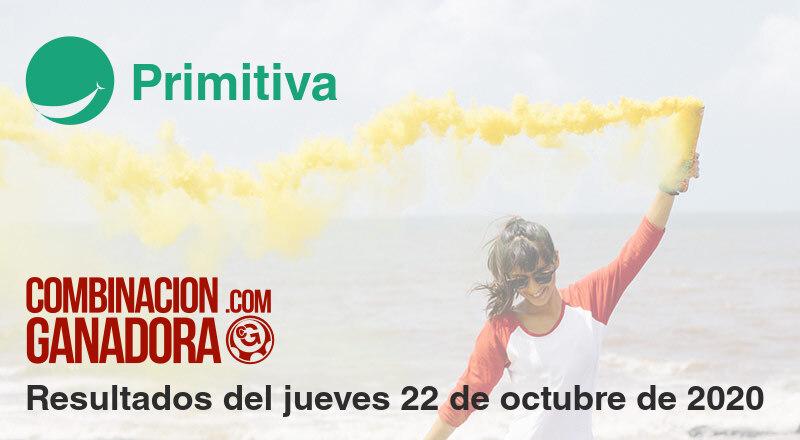 Primitiva del jueves 22 de octubre de 2020