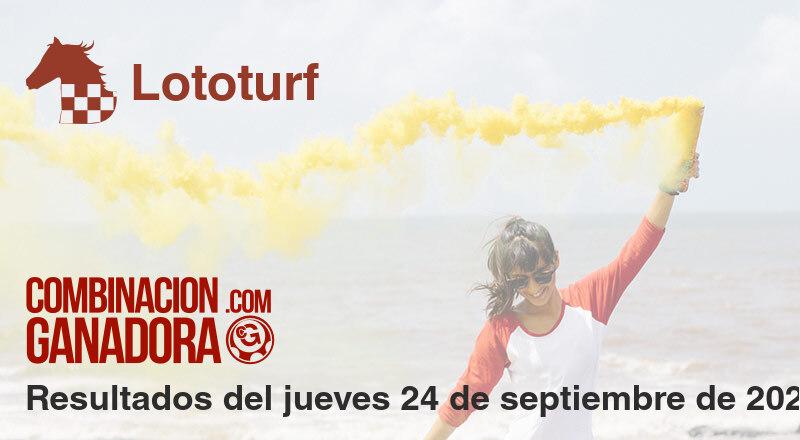 Lototurf del jueves 24 de septiembre de 2020