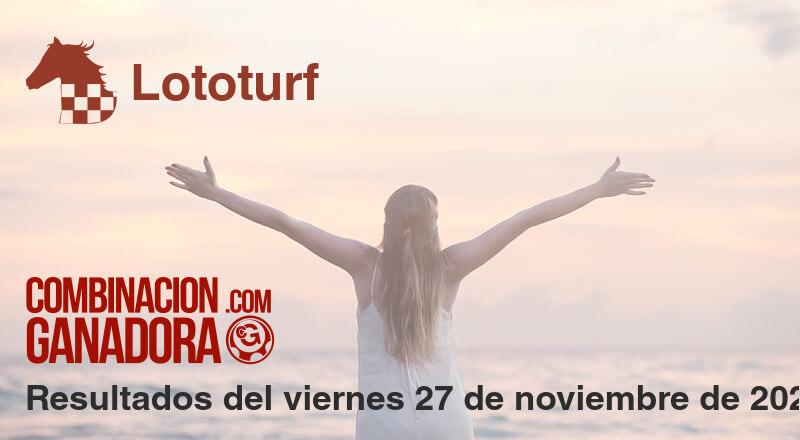 Lototurf del viernes 27 de noviembre de 2020