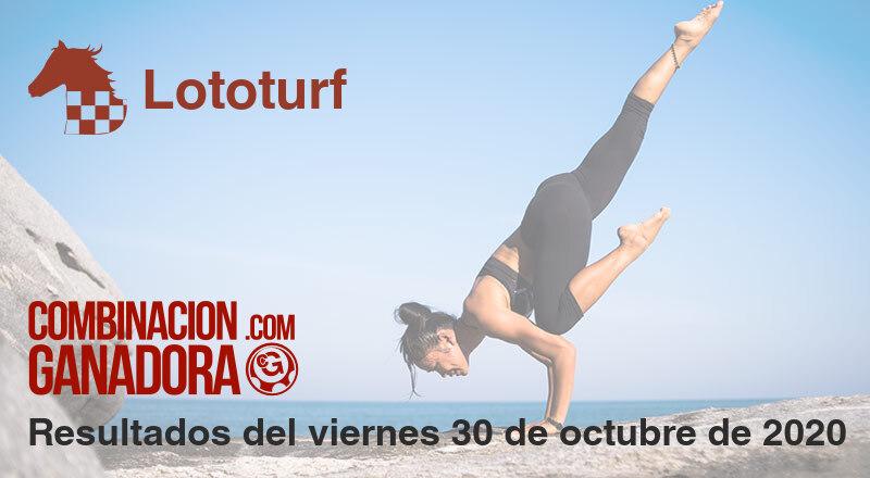 Lototurf del viernes 30 de octubre de 2020