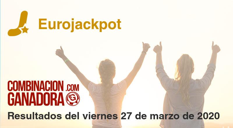 Eurojackpot del viernes 27 de marzo de 2020