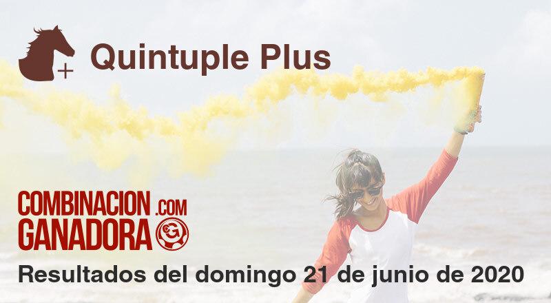 Quintuple Plus del domingo 21 de junio de 2020