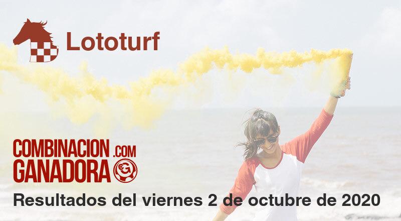 Lototurf del viernes 2 de octubre de 2020