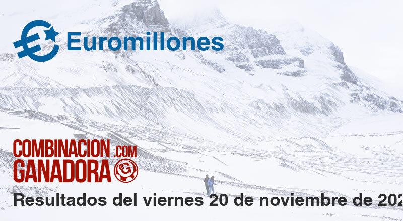 Euromillones del viernes 20 de noviembre de 2020