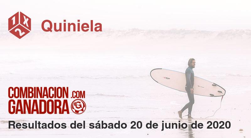 Quiniela del sábado 20 de junio de 2020