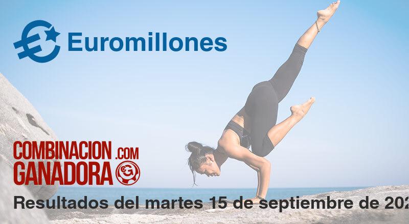 Euromillones del martes 15 de septiembre de 2020