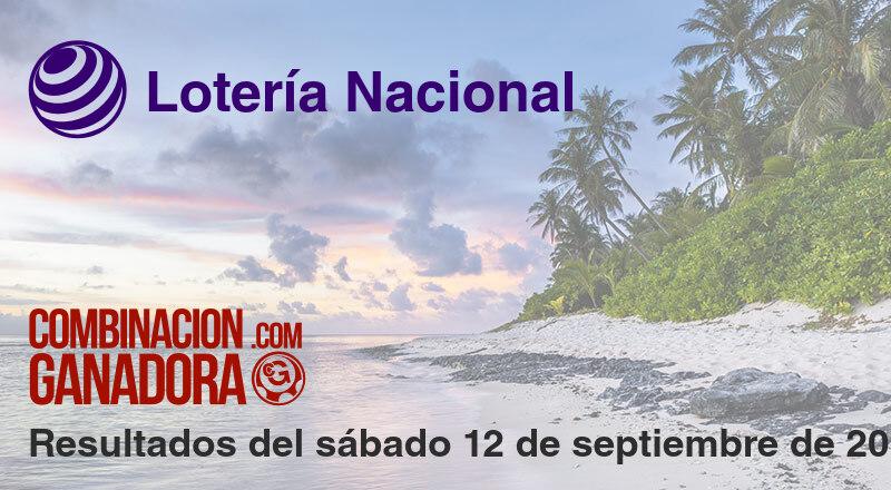 Lotería Nacional del sábado 12 de septiembre de 2020
