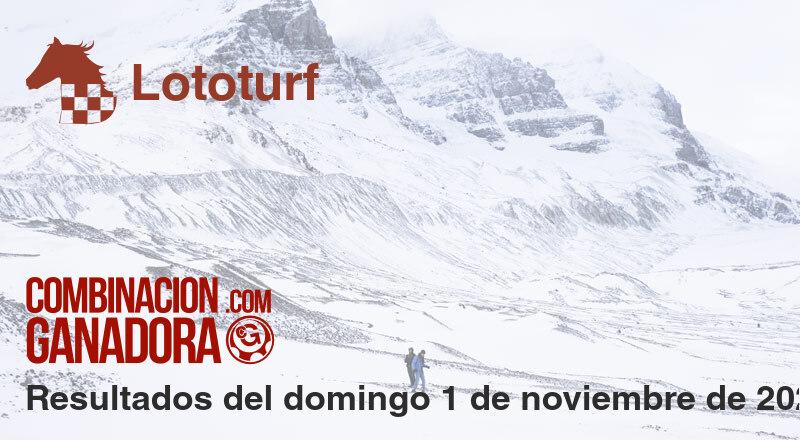 Lototurf del domingo 1 de noviembre de 2020