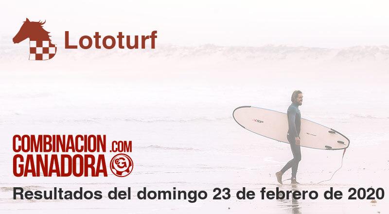 Lototurf del domingo 23 de febrero de 2020