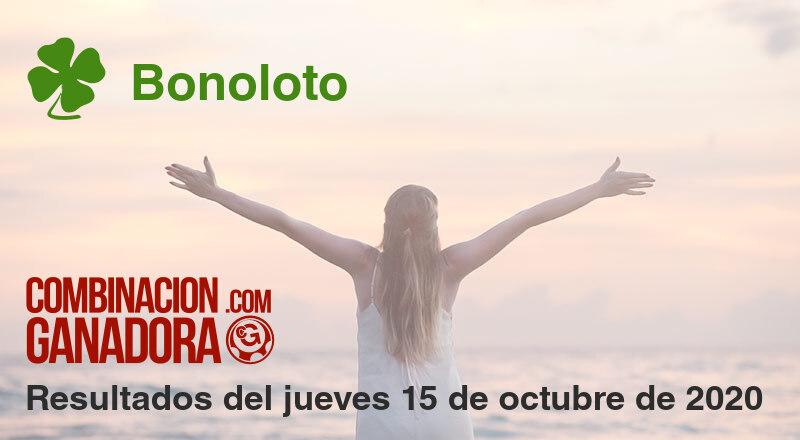 Bonoloto del jueves 15 de octubre de 2020