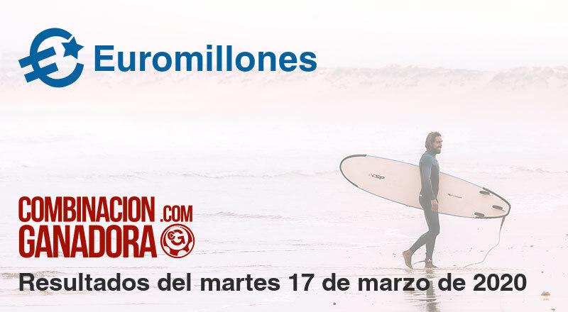 Euromillones del martes 17 de marzo de 2020
