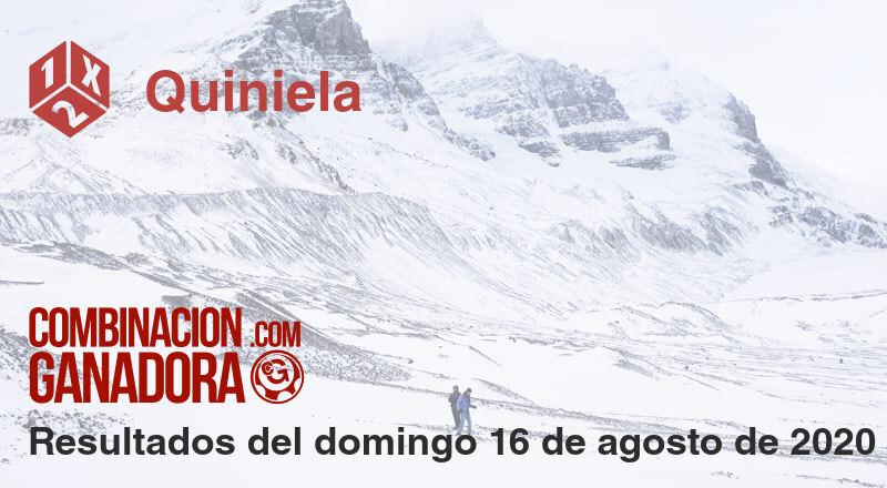 Quiniela del domingo 16 de agosto de 2020