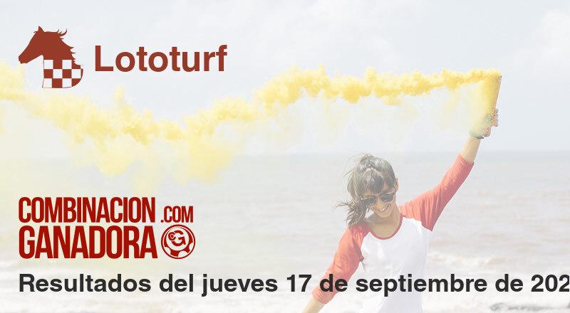 Lototurf del jueves 17 de septiembre de 2020