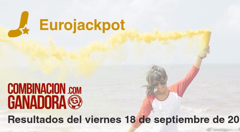 Eurojackpot del viernes 18 de septiembre de 2020