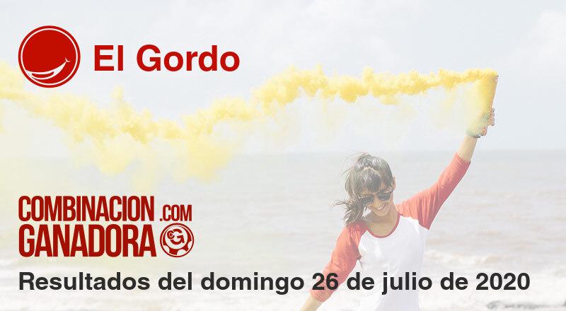El Gordo del domingo 26 de julio de 2020