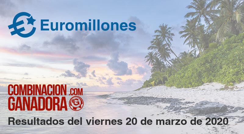 Euromillones del viernes 20 de marzo de 2020