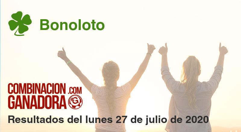Bonoloto del lunes 27 de julio de 2020