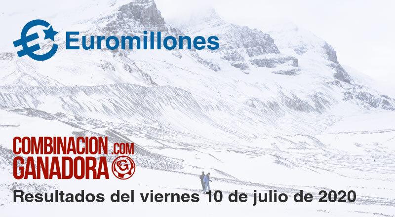 Euromillones del viernes 10 de julio de 2020