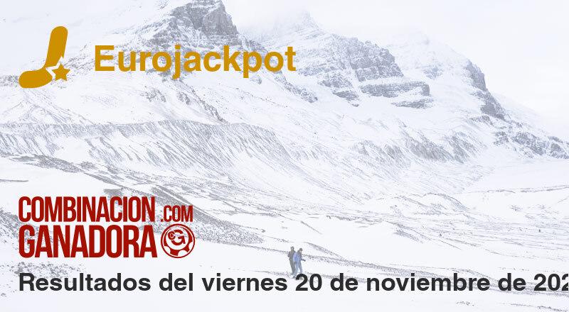 Eurojackpot del viernes 20 de noviembre de 2020