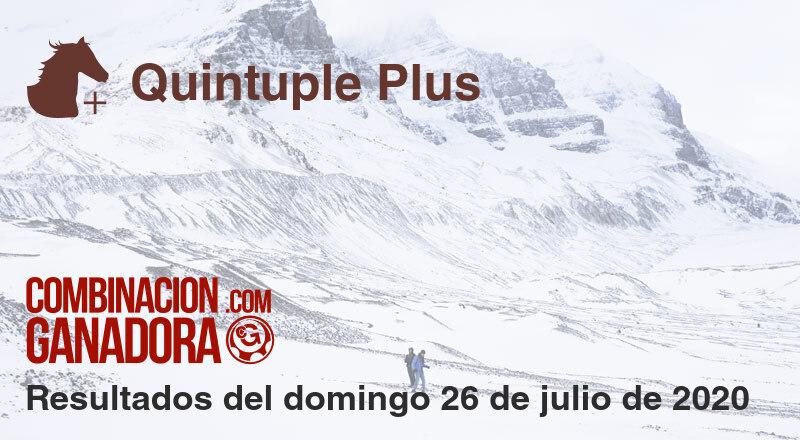 Quintuple Plus del domingo 26 de julio de 2020