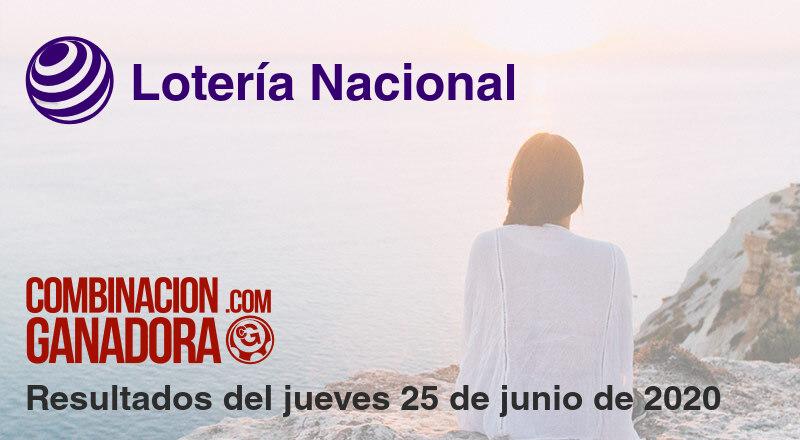 Lotería Nacional del jueves 25 de junio de 2020