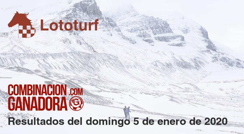 Lototurf del domingo 5 de enero de 2020