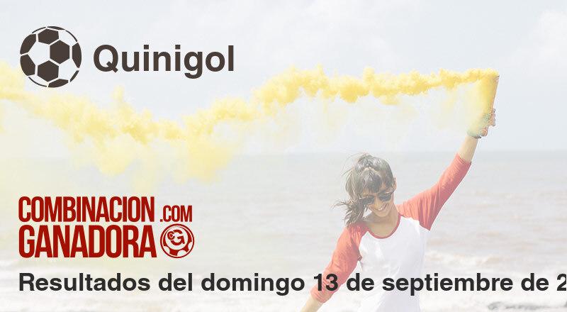 Quinigol del domingo 13 de septiembre de 2020