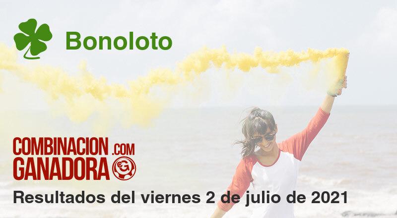 Bonoloto del viernes 2 de julio de 2021
